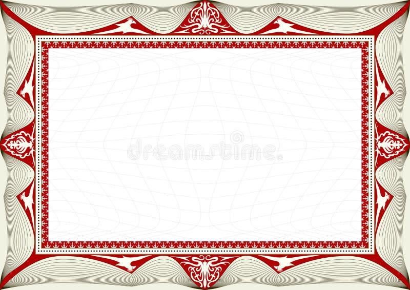 Fond de certificat illustration stock