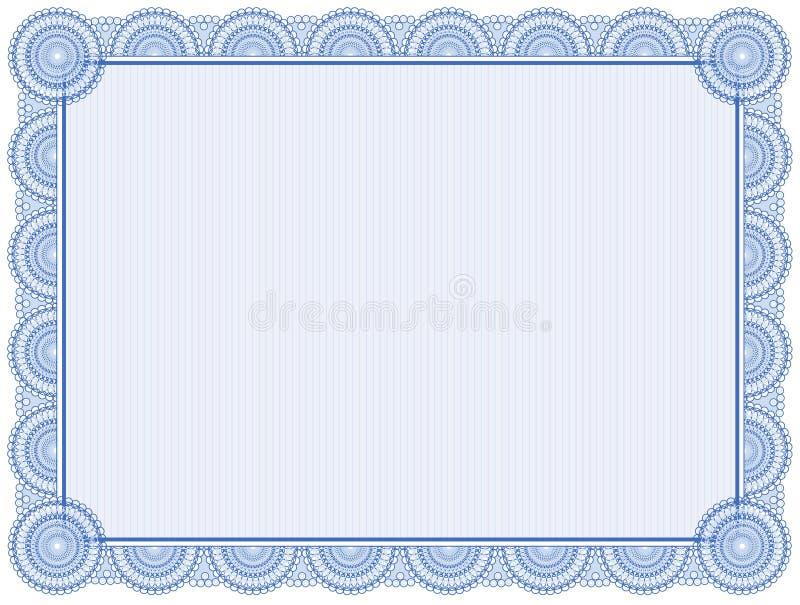 Fond de certificat illustration libre de droits