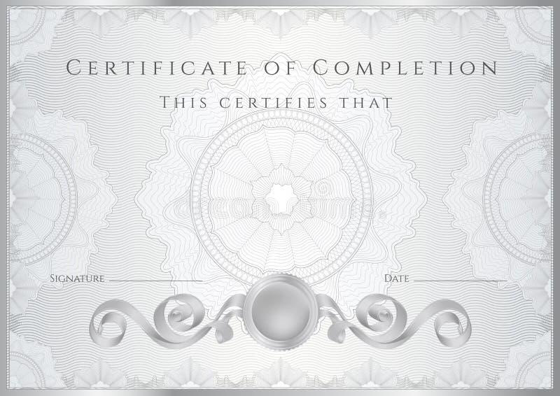 Fond de certificat d'argent/diplôme (calibre) illustration stock