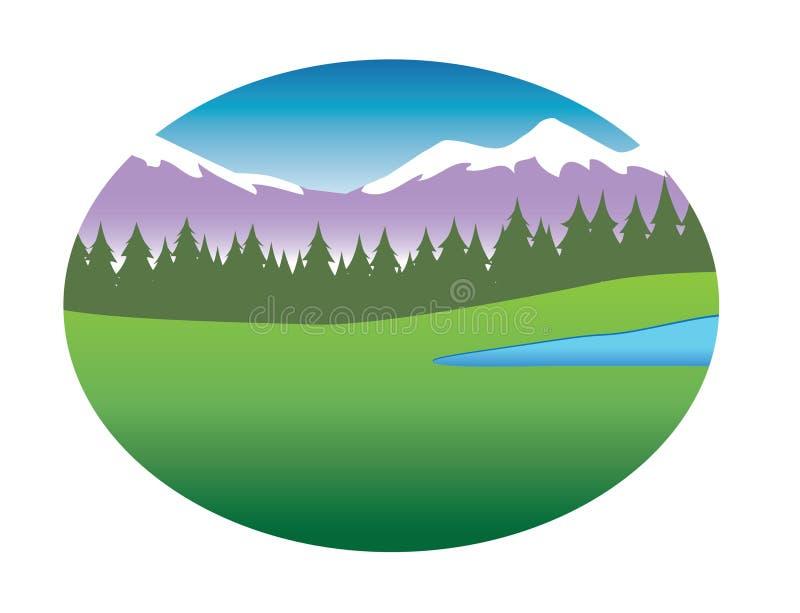 Fond de chaîne de montagne illustration libre de droits