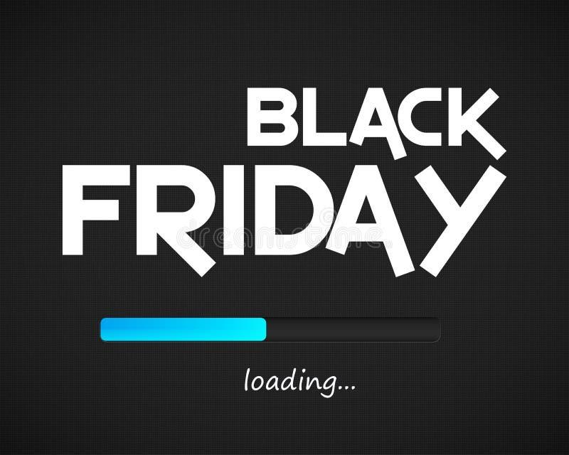 Fond de chargement de Black Friday illustration stock