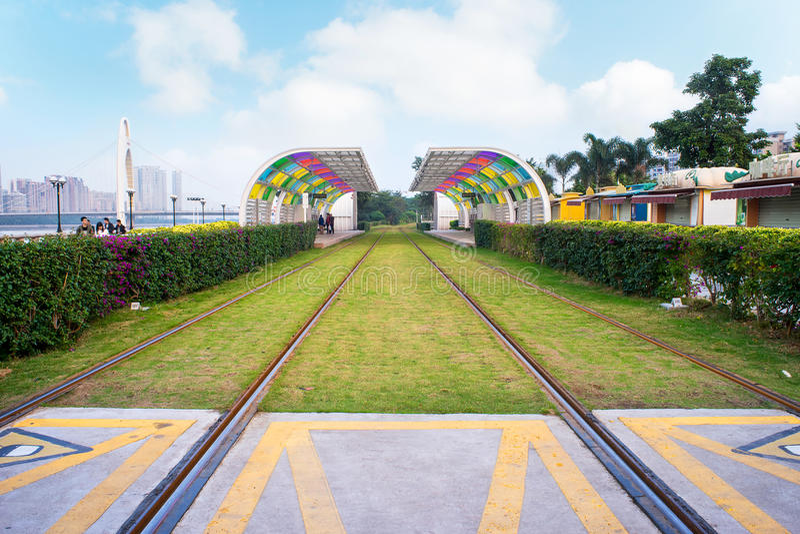 Fond de chemin de fer photographie stock
