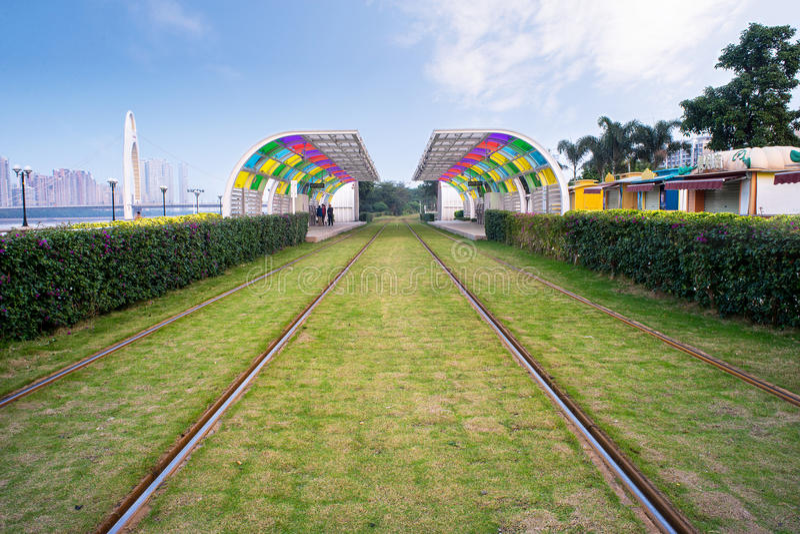 Fond de chemin de fer photos libres de droits