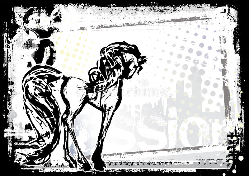 Fond de cheval illustration de vecteur