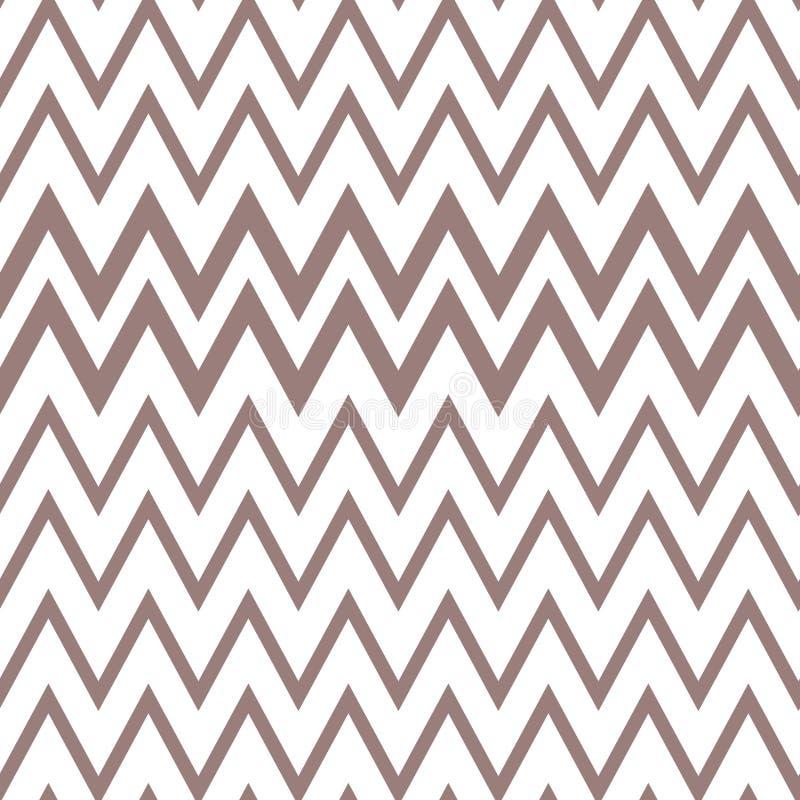 Fond de Chevron, couleur sans couture de brun de modèle de conception illustration de vecteur
