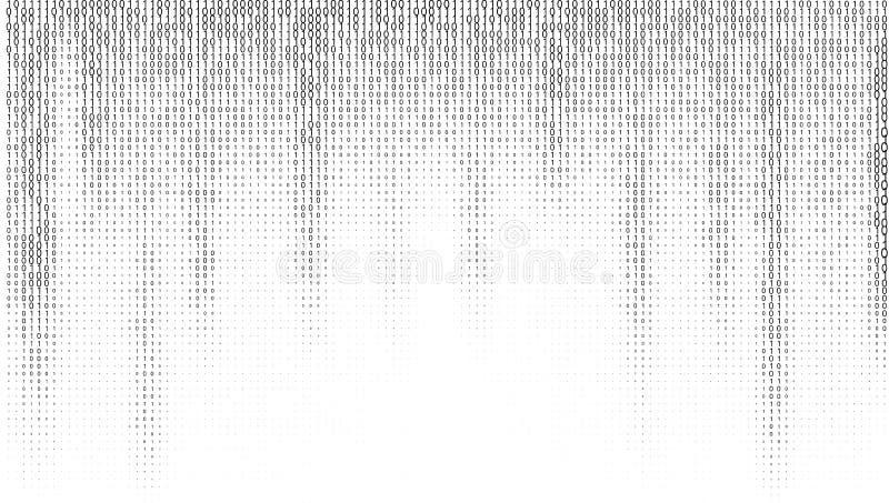 Fond de chiffres de code binaire de gradient illustration de vecteur