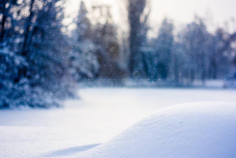 Fond de chute de neige de l'hiver image stock