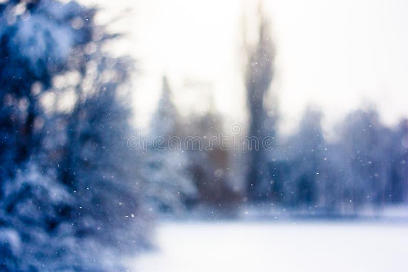 Fond de chute de neige de l'hiver images stock