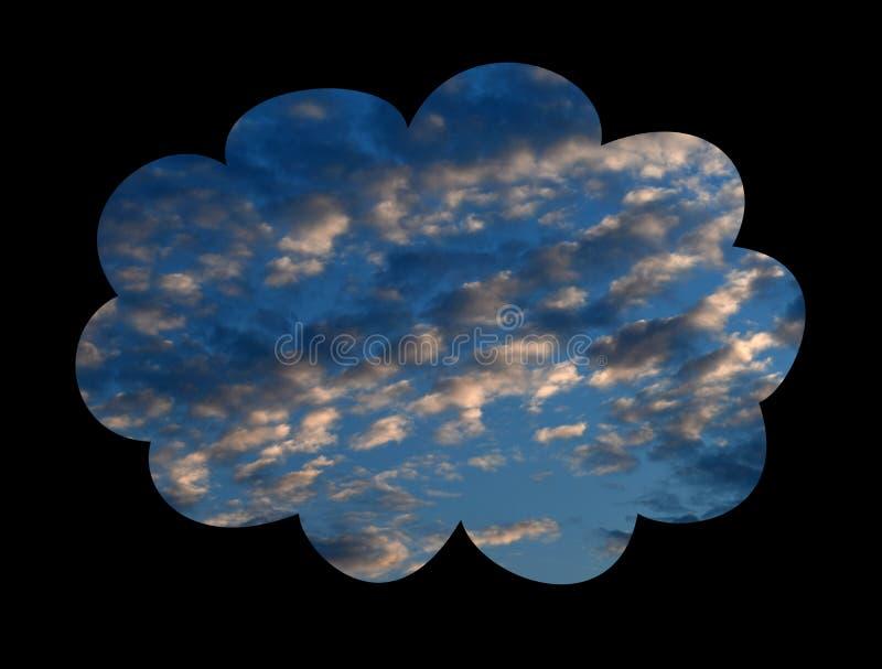 Fond de ciel avec des nuages image libre de droits
