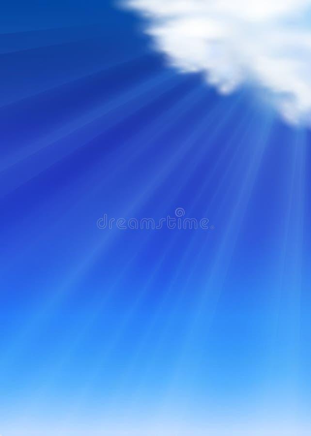 Fond de ciel d'été illustration libre de droits