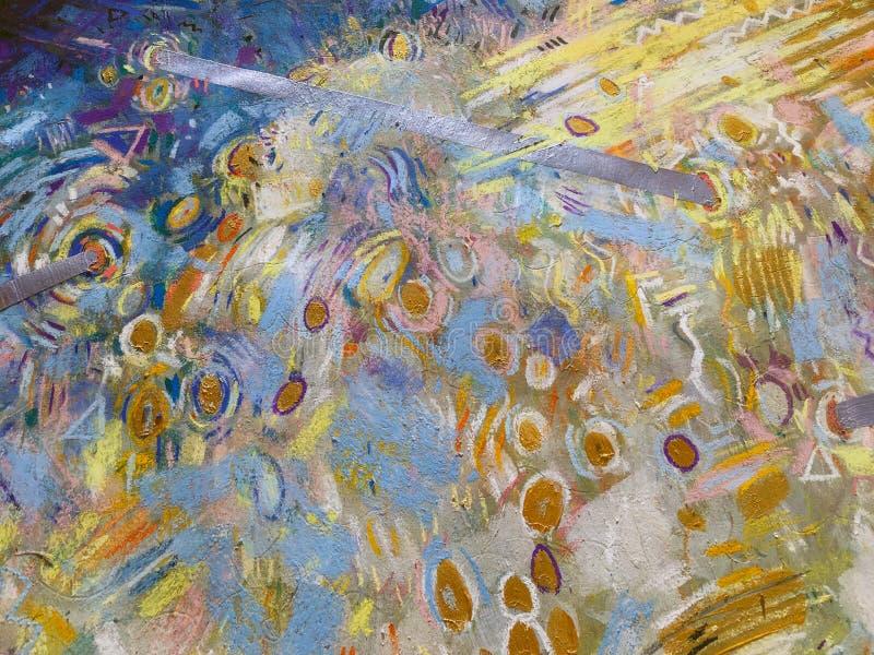 Fond de ciel d'or d'expressionisme Texture de peinture à la mode illustration de vecteur