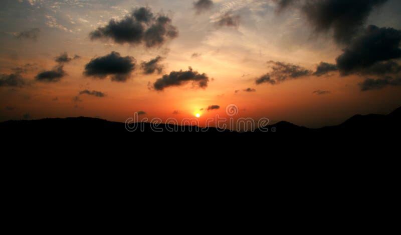 Fond de ciel de coucher du soleil photos libres de droits
