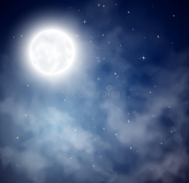 Fond de ciel de nuit illustration de vecteur