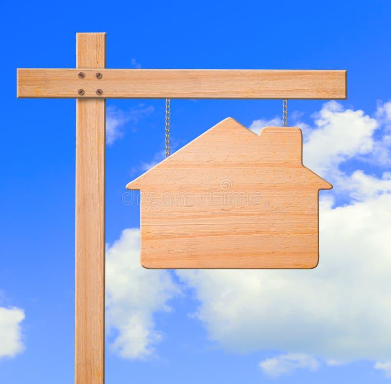 Fond de ciel de signe d'immeubles. image libre de droits