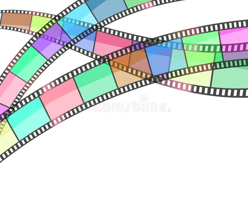 Fond de cinéma avec la bande de film illustration libre de droits