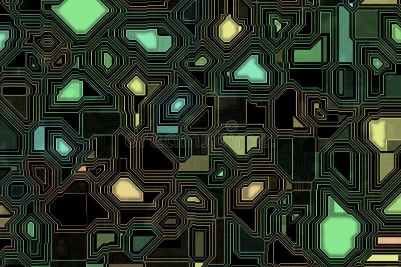 Fond de circuit imprimé illustration stock