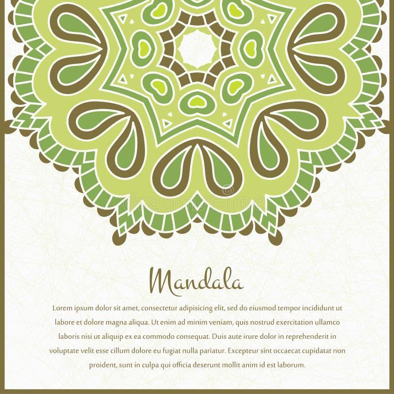 Fond De Circulaire De Fleur Un Dessin Stylisé Mandala