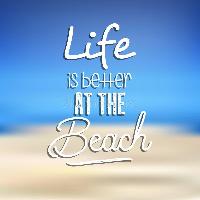 Fond de citation de plage illustration de vecteur
