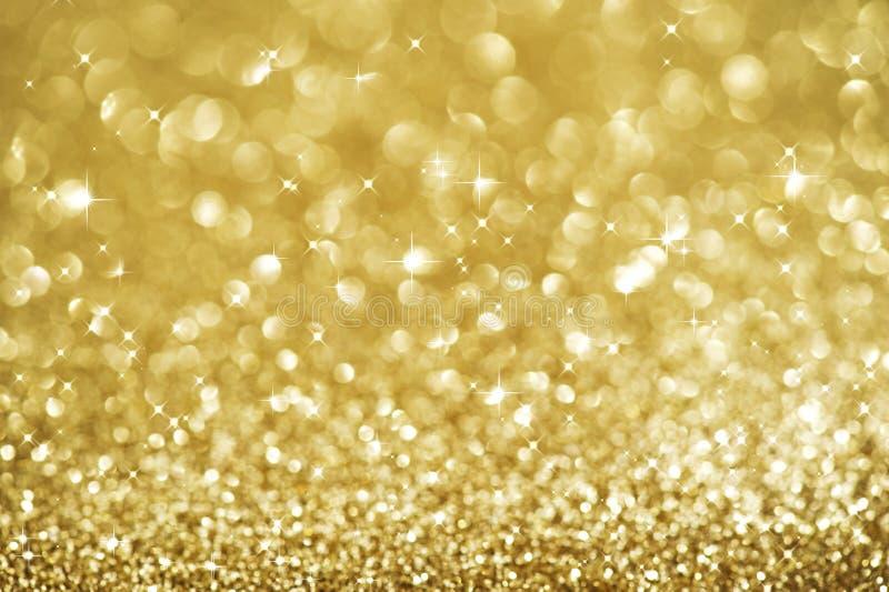 Fond de clignotement d'or de Noël images libres de droits