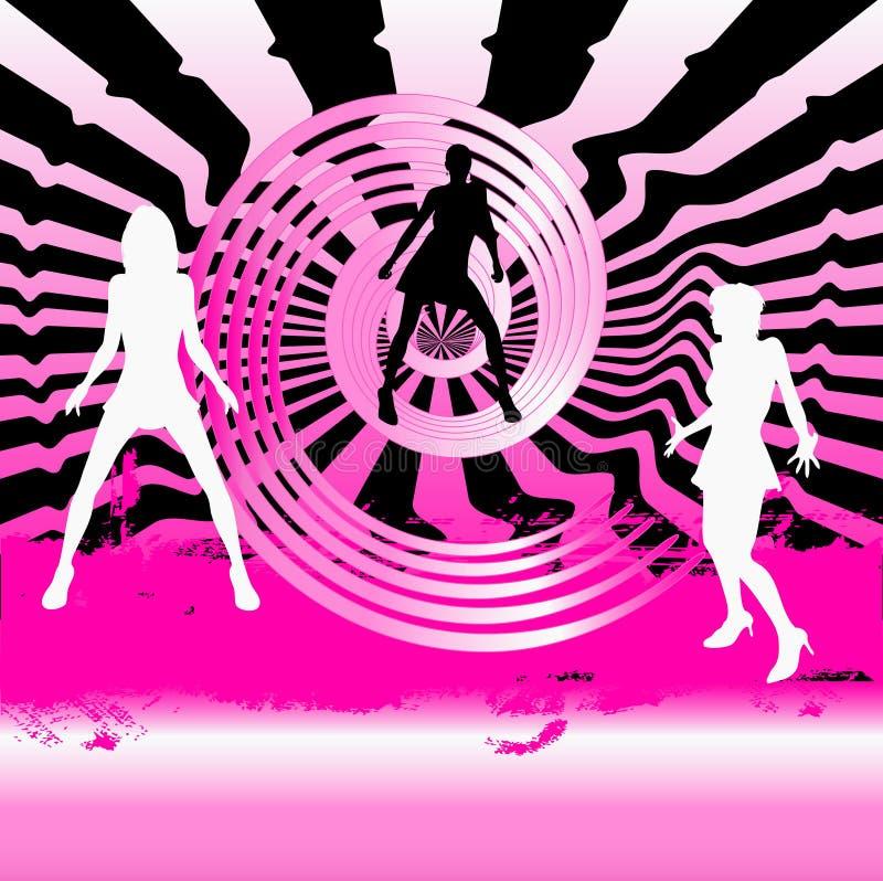 Fond de club de danse illustration stock