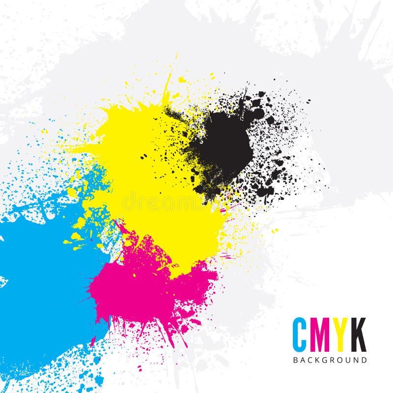Fond de CMYK illustration de vecteur