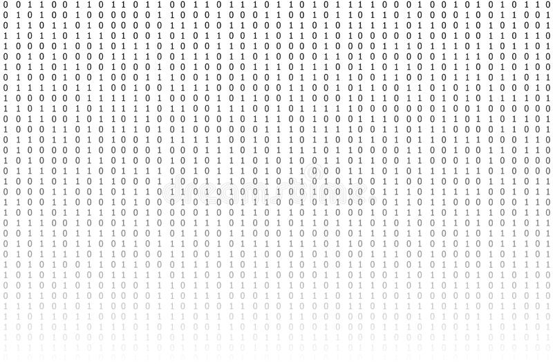 Fond de code binaire de vecteur, texture de gradient, concept de technologie illustration stock