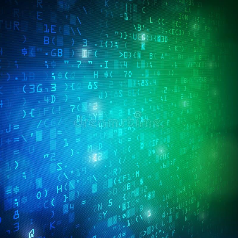 Fond de code de données numériques d'ordinateur de technologie illustration libre de droits