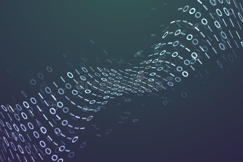 Fond de code de Digital illustration de vecteur