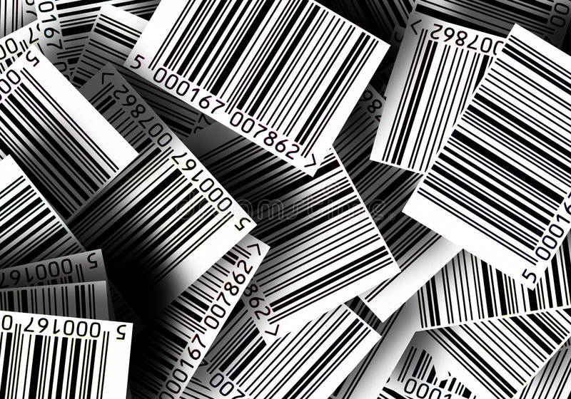 Fond de codes barres illustration libre de droits
