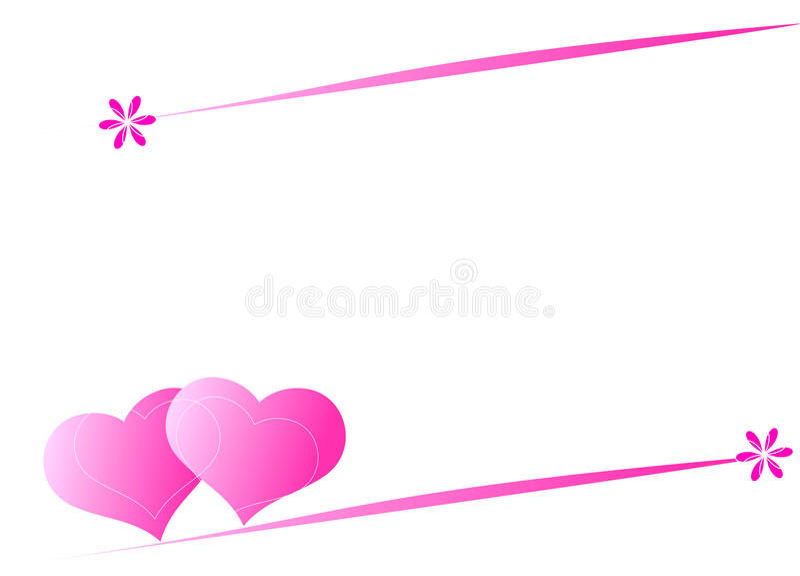 Fond de coeur illustration stock