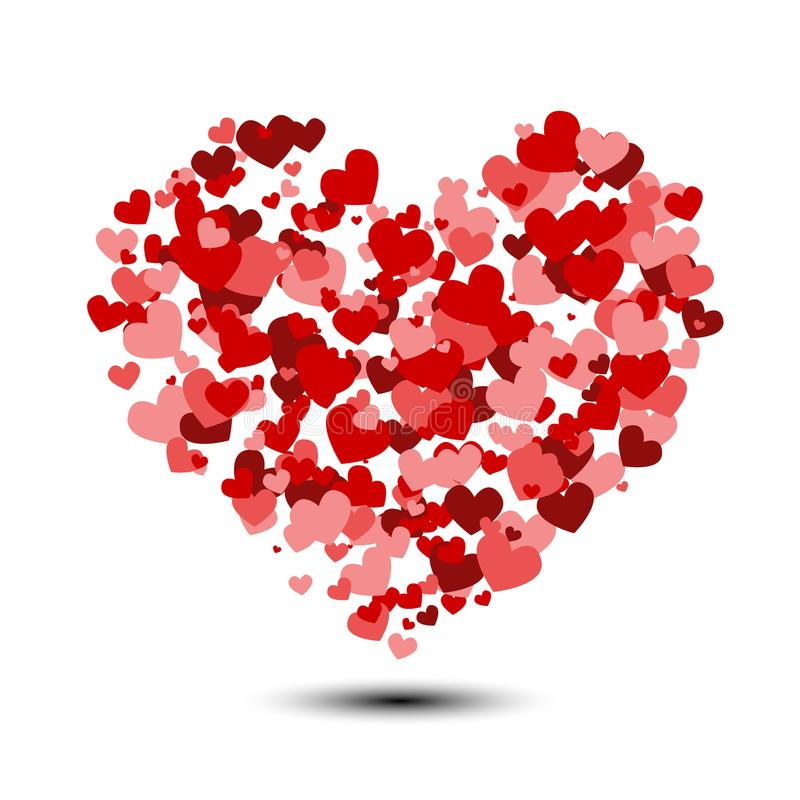 Fond de coeur avec le sort de coeurs de valentines illustration libre de droits