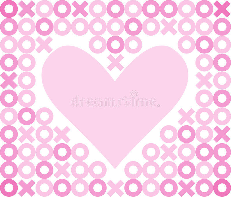 Fond de coeur d'étreintes et de baisers/ENV illustration de vecteur