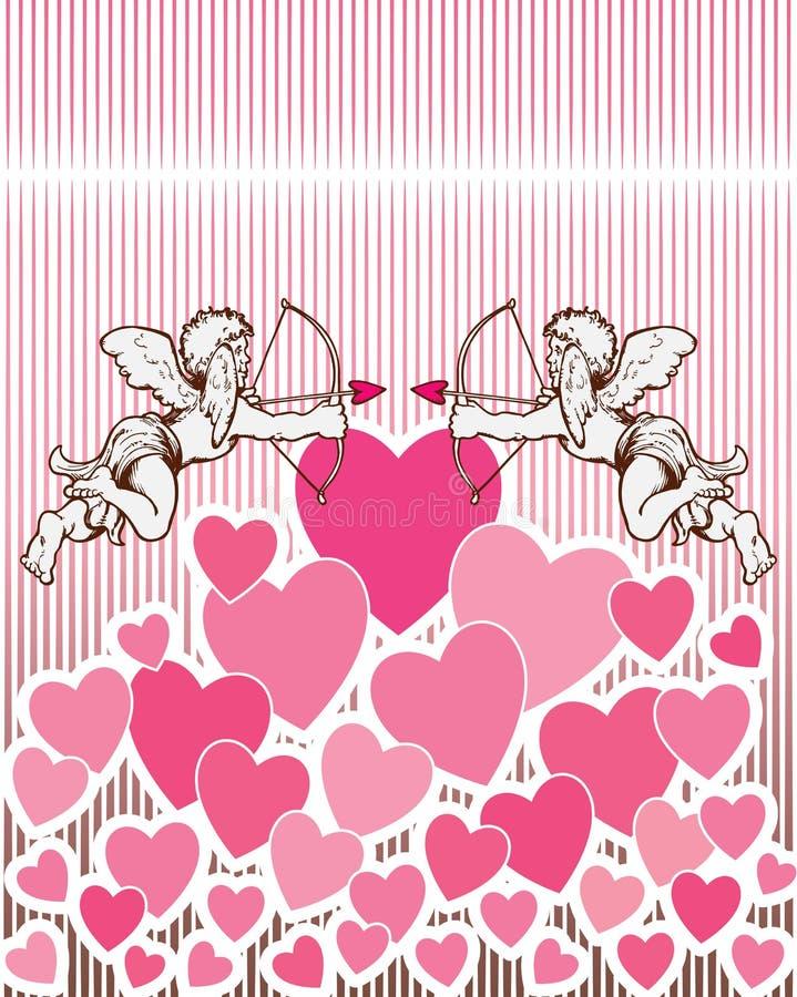 Fond de coeur d'ange. illustration libre de droits