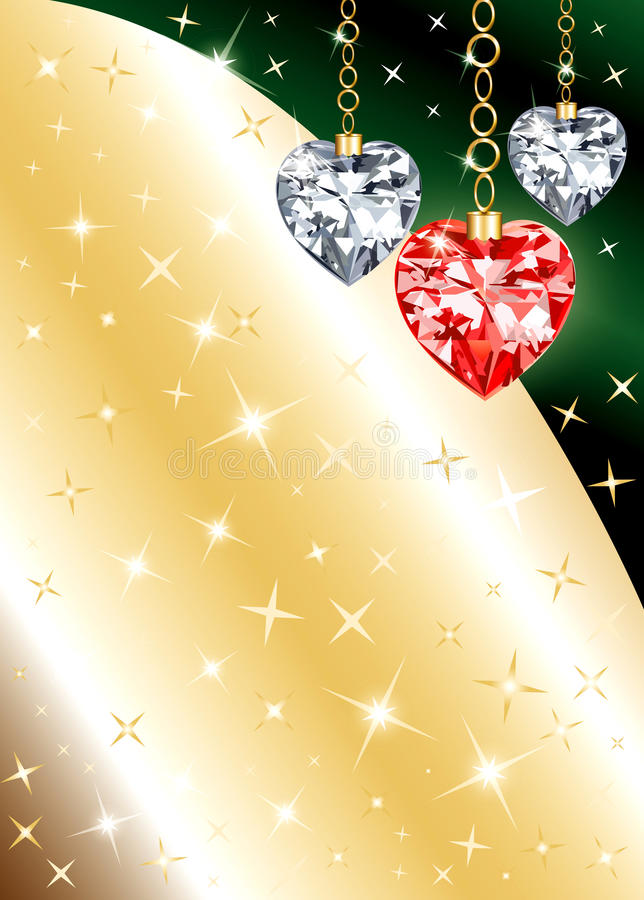 Fond de coeur d'ornement de diamant illustration stock