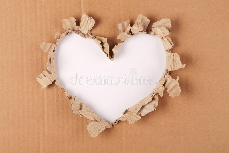 Fond de coeur de carton images libres de droits