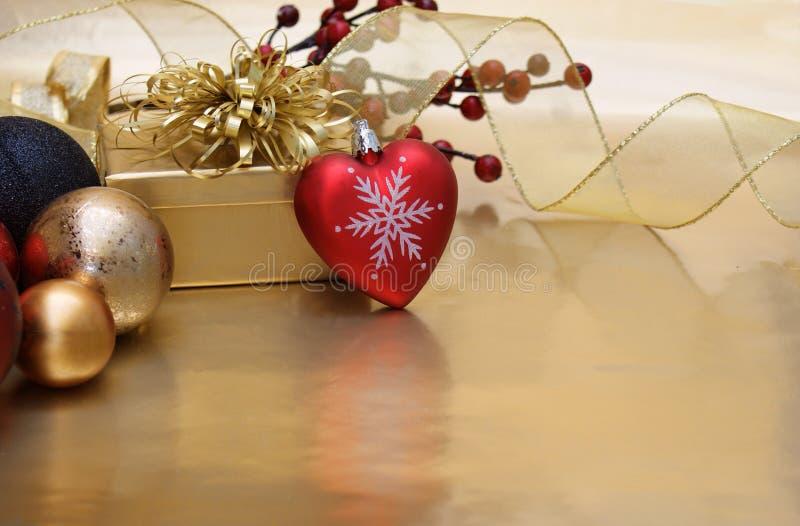 Fond de coeur de Noël photographie stock