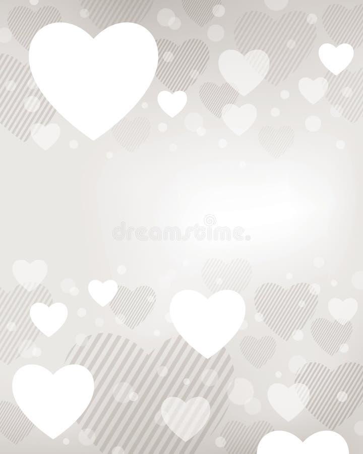 Fond de coeur de Valentine illustration libre de droits