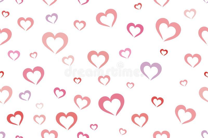 Fond de coeurs illustration libre de droits