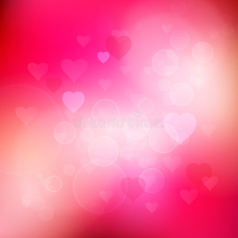 Fond de coeurs de Bokeh pour le jour du ` s de Valentine illustration libre de droits