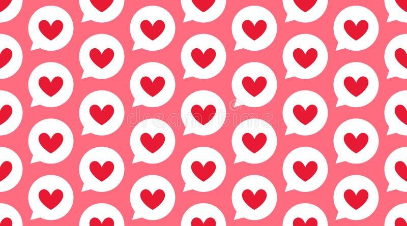 Fond de coeurs, couleur blanche rose Modèle sans couture de vecteur mignon pour la carte de Saint Valentin, épousant la décoratio illustration stock