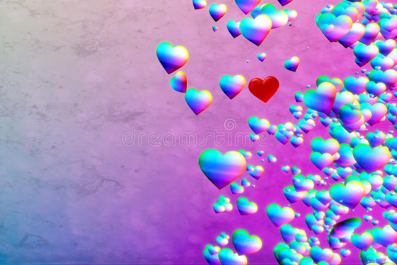 Fond de coeurs d'arc-en-ciel illustration stock
