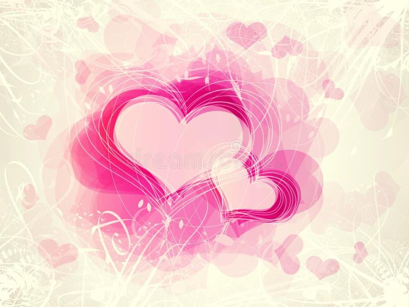 Fond de coeurs de Valentine illustration de vecteur