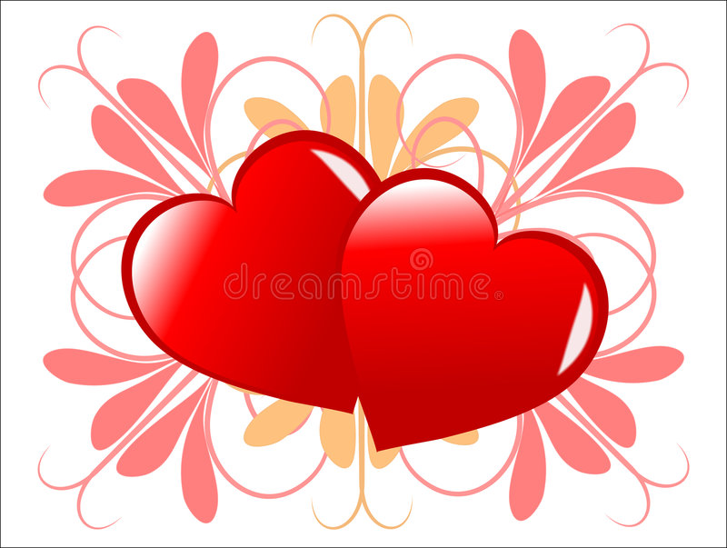 Fond de coeurs de Valentines illustration stock