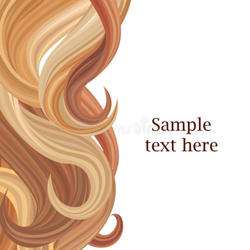Fond de coiffure avec l'espace de copie