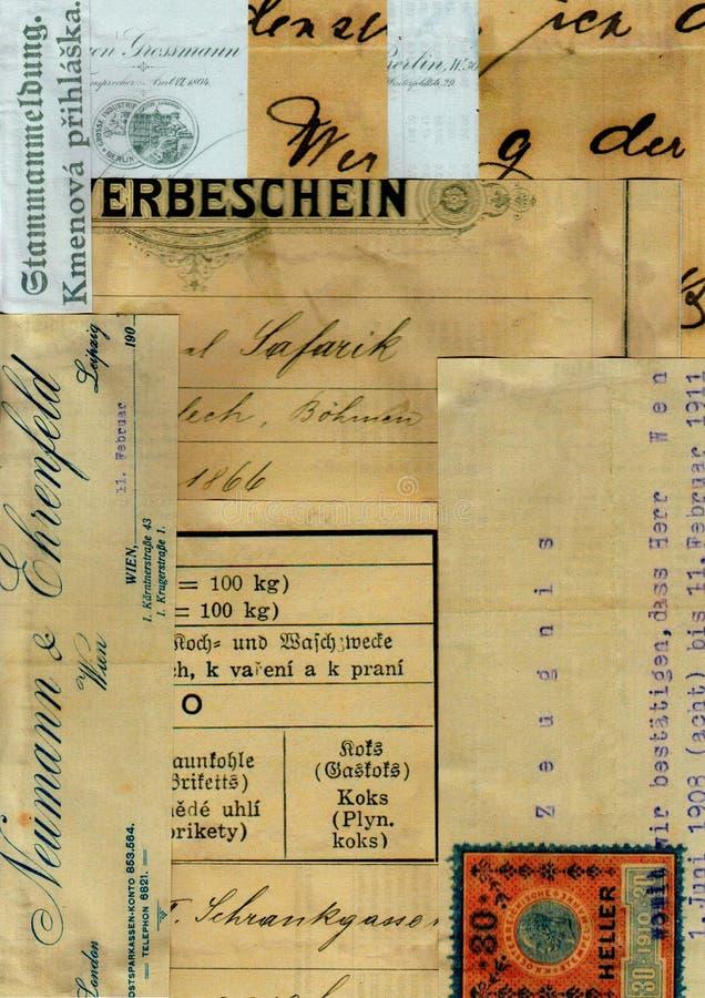 Fond de collage de patchwork de vintage avec le texte images stock