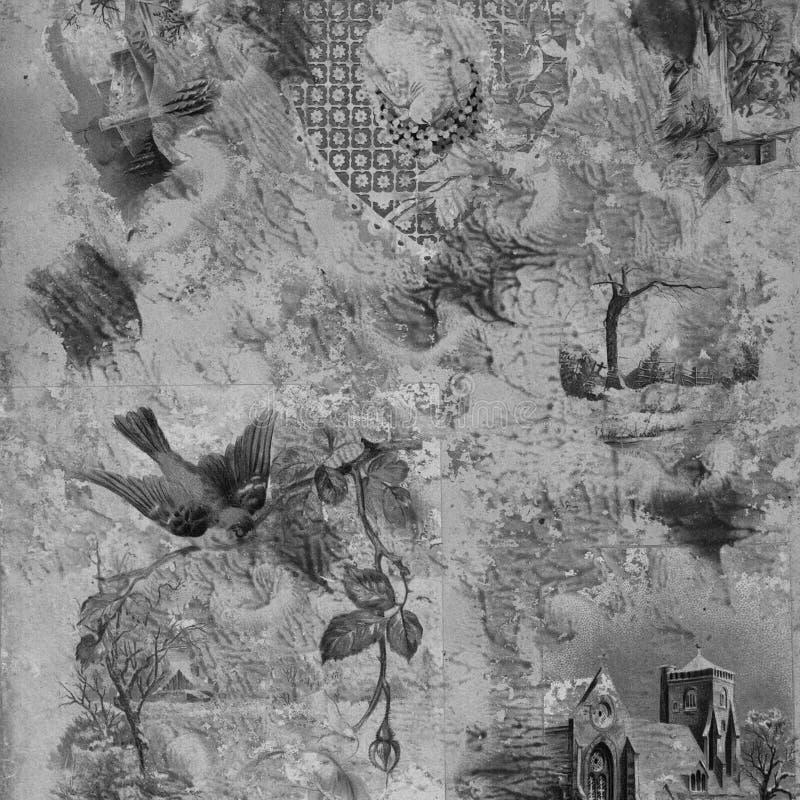 Fond de collage peint par album à fond gris illustration stock