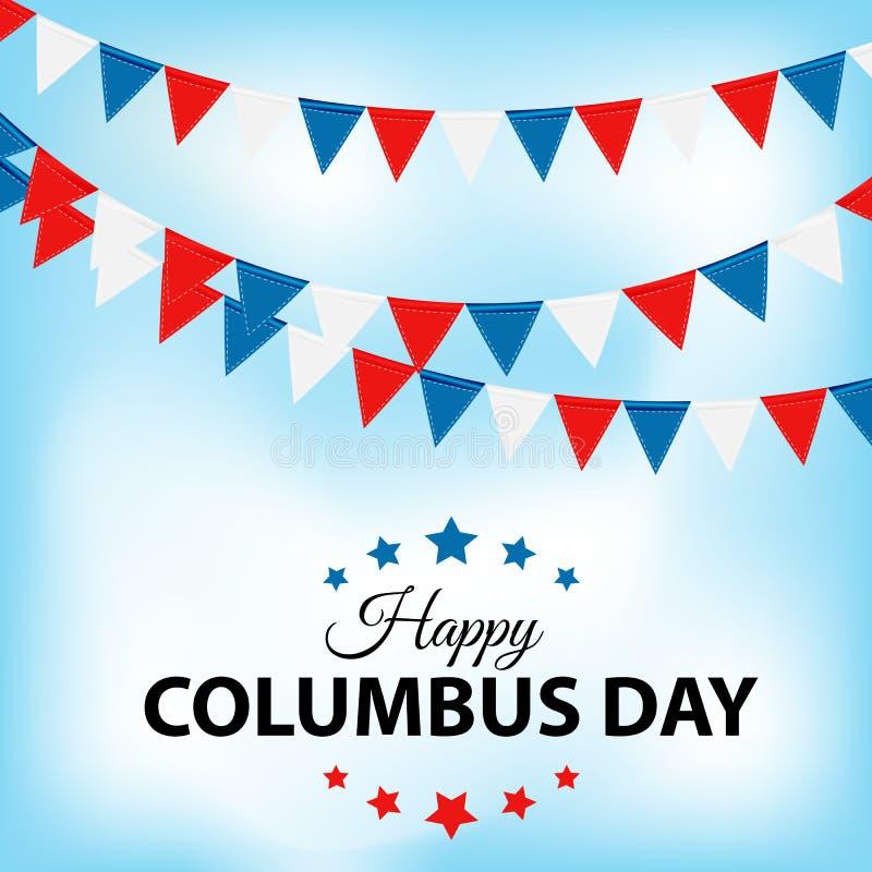 Fond de Columbus Day Illustration de vecteur illustration de vecteur