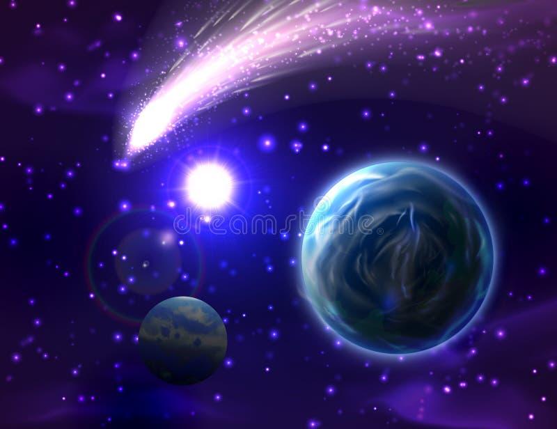 Fond de comète de vecteur illustration stock