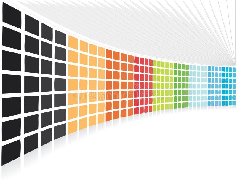 Fond de compagnie abstrait des blocs de point de vue illustration stock