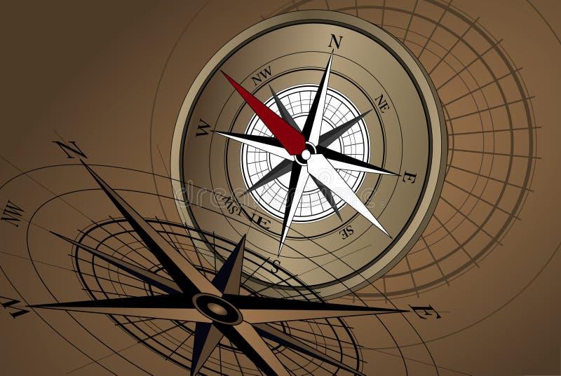 Download Fond de compas illustration de vecteur. Illustration du occidental - 8667453